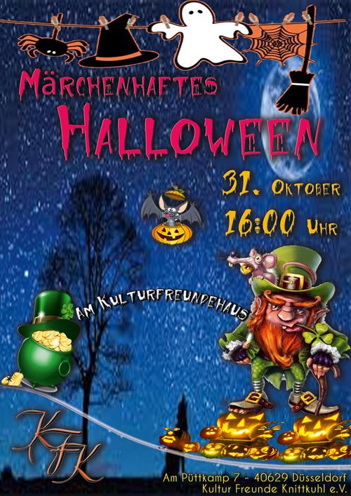 Einladung zur Halloweenfeier